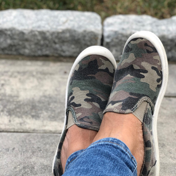 Kasandra Slip On Canvas Flexible Camo